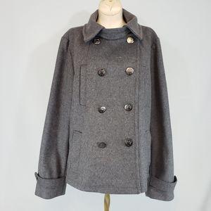 Gap gray wool pea coat size XL